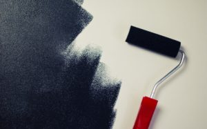 painting black paint roller 300x187 - painting black paint roller