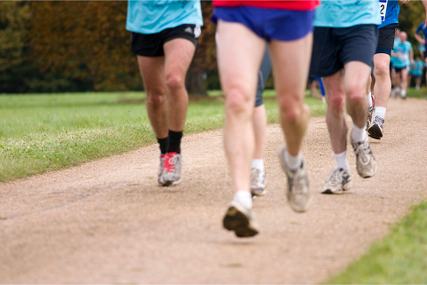 A group of runners taking part in a fundraiser take part in market research projects near you